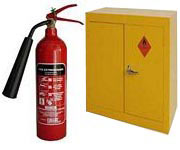 Health & Safety equipment shoes, Spill kits and haz cabinets