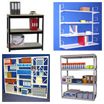 SPUR SHELVING | Zamba Industrial Shelving | Industrial shelves | Spur wall mounted shelf units | Spur Rolled Edge Shelving